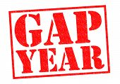 picture of sabbatical  - GAP YEAR red Rubber Stamp over a white background - JPG