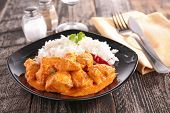 chicken cooked with curry sauce