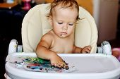 Baby Is Drawing