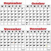 Três em um conjunto de três calendários 2011