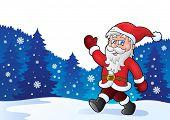 Santa Claus walk theme 4 - eps10 vector illustration.