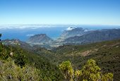 View of the north coast of Madeira