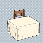Empty Table With Chair