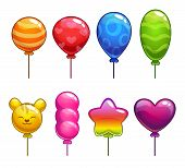Set of cute cartoon balloons