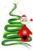 Owl Under The Christmas Tree