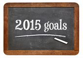 2015 goals on a vintage slate blackboard - New Year plans or resolutions concept