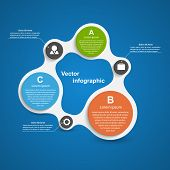 Abstract Infographic In The Form Of Metabolic. Design Elements.