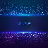 pic of cosmic  - Blue cosmic star dust abctract vector background - JPG