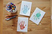 Christmas handmade handprints gift cards