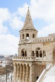 Fisherman's Bastion at winter, Budapest