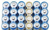 Many Aa Electric Batteries Close Up