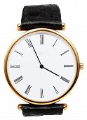 Five Minutes To Four O'clock On Dial Of Wristwatch