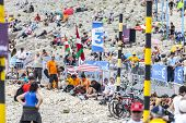 Spectators Of Le Tour De France On Mont Ventoux