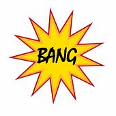 bang vintage symbol vector