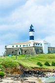 Barra Lighthouse (Farol da Barra) in Salvador, Brazil.