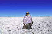 Uyuni Salt Lake Traveler