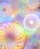 Rainbow spirals