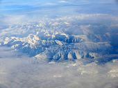 Spanish Snowy Pyrenees Mountains As Seen From Sky