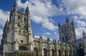 picture of church-of-england  - Canterbury Cathedral in Canterbury England with blue sky - JPG