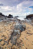 Bude beach Cornwall UK England