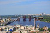 movable bridge in Kiev, Ukraine