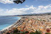 Old Town Of Nice Seen From The Hill