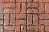 Clay Colored Brick Pattern Slab For Texture Or Background