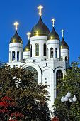 Cathedral Of Christ The Savior Shines In The Sun. Kaliningrad, Russia