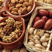 stock photo of pecan nut  - Varieties of nuts - JPG
