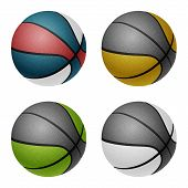 picture of combine  - Combinated color basketballs - JPG