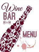 stock photo of sparkling wine  - Wine menu card - JPG
