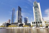 stock photo of cbd  - View of Southbank in Melbourne CBD in the daytime - JPG