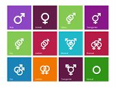 picture of hetero  - Gender identities icons on color background - JPG
