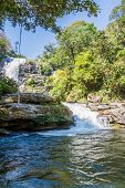 image of thong  - Vachirathan Waterfall or Namtok Vachirathan and blue sky Chom thong Chiang mai Thailand - JPG