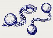 picture of shackles  - Metal shackles - JPG