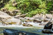 stock photo of thong  - Vachirathan Waterfall or Namtok Vachirathan Chom thong Chiang mai Thailand - JPG
