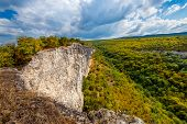 picture of mountain chain  - The valley is between the mountains in the Crimea - JPG