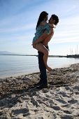 stock photo of kiss  - Young Couple  - JPG