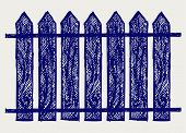 pic of wooden fence  - Wooden fence - JPG