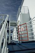 No Entry Sign Onboard A Cruise Ferry