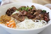 stock photo of nuong  - Vietnamese grilled pork vermicelli - JPG