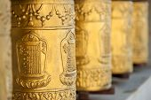 pic of tibetan  - gold tibetan spool in himalayas - JPG