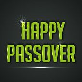 image of passover  - illustration of shiny text for Happy Passover - JPG