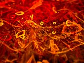 foto of fieri  - Fiery glowing particles fractal computer generated abstract background - JPG