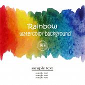 Постер, плакат: Rainbow Watercolor Background