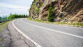 picture of twisty  - Famous Transfagarasan mountain winding road in Romania - JPG