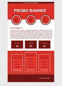 picture of newsletter  - Newsletter red template with flat business style - JPG