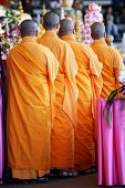 stock photo of monk fruit  - monks ready for the ceremony at melbourne australia - JPG