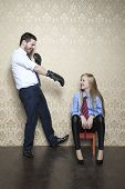 pic of disobedient  - man and woman working together in the office - JPG