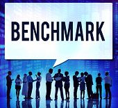 picture of benchmarking  - Benchmark Standard Management Improvement Benchmarking Concept - JPG